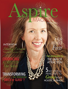 Stacey on the cover of Aspire Magazine